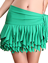 Belly Dance Hip Scarves Women's Training Milk Fiber Draped 1 Piece Green Belly Dance Natural Hip Scarf