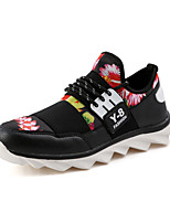 Men's Shoes Casual PU Fashion Sneakers Black / Blue / Black and Red