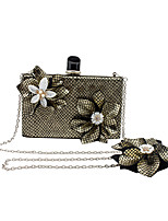 L.WEST Women's Handmade The Plaid Flower Evening Bag