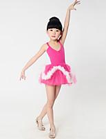 Ballet Dresses Children's Training Spandex / Polyester Kid's Starp Cute Dance Costumes