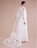 Wedding Veil One-tier Chapel Veils Cut Edge Tulle Ivory Ivory