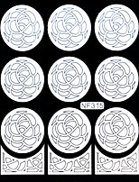 Nail Art Template Sticker-(NF315-White)