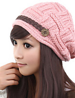 Lovely Warm Autumn And Winter Fashion Crimping Wool Ear Protection Hat