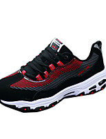 Men's Shoes Tulle Casual Fashion Sneakers Casual Flat Heel Blue / Red / White