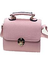 Fashion Shoulder Bag Woman Packet PU Solid Color Leather Messenger Bag