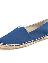 Women's Shoes Canvas / Tulle Flat Heel Comfort Loafers Casual Blue