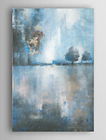 Hand Painted Oil Painting Abstract Lake At Dusk with Stretched Frame 7 Wall Arts®
