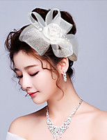 Women's Tulle / Fabric Headpiece-Wedding / Special Occasion Birdal Flowers / Hair Clip 1 Piece