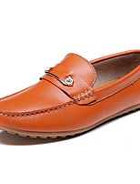 Men's Loafers & Slip-Ons Spring Summer Fall Moccasin Nappa Leather Outdoor Office & Career Dress Casual Dark Blue Orange