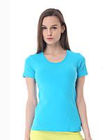 Yokaland®Ioga Blusas Secagem Rápida / Drenagem / Redutor de Suor Stretchy Wear Sports Ioga / Pilates / Fitness Mulheres