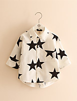 New 2016 Spring And Summer Children Star Printed Shirts Hot Sale Girl Boy Clothes Star Pattern Long-Sleeve Shirt