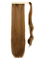 Brown 60CM Synthetic High Temperature Wire Wig Straight Hair Ponytail Color 27