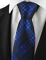 KissTies Men's Plaid Pattern Tie Necktie For Wedding Party Holiday Business With Gift Box (3 Colors Available)