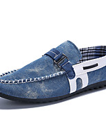 Men's Shoes Casual Denim Loafers Black / Blue
