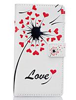 Для Кейс для Huawei Кошелек / Бумажник для карт / со стендом / Флип Кейс для Чехол Кейс для Одуванчик Твердый Искусственная кожа Huawei