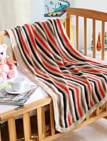 Multicolor Strip Pattern Knitted Blanket Full Cotton 33