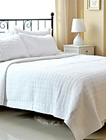 3PC Quilt Sets Full Cotton Pure White Jacquard 92
