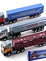 Dibang - Children's toy car alloy toy car simulation truck tractors stall selling American container head (3 mixPCS)