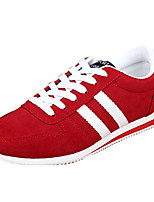 Men's Sneakers Spring / Summer / Fall / Winter Comfort PU Casual Flat Heel Lace-up Black / Blue / Red Walking