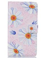 Для Кейс для Huawei / P9 / P9 Lite Кошелек / Бумажник для карт / со стендом Кейс для Чехол Кейс для Цветы Твердый Искусственная кожа