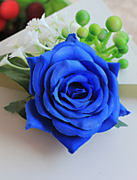 Wedding Flowers Free-form Handmade Blue Roses Wrist Corsages