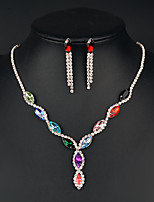Jewelry Set Women's Anniversary / Wedding / Birthday / Gift / Party / Daily / Special Occasion Jewelry Sets Alloy CrystalNecklaces /