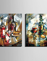Mini Size E-HOME Oil painting Modern Abstract Wine And Wine Bottles Pure Hand Draw Frameless Decorative Painting
