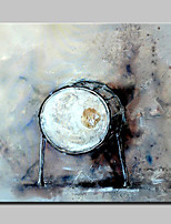 Lager Hand Painted Abstract Drum Oil Painting On Canvas Wall Art Picture For Home Whit Frame Ready To Hang 100x100cm