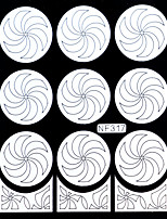 Nail Art Template Sticker-(NF317-White)