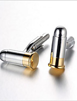 Men's Fashion Bullet Style Silver Alloy French Shirt Cufflinks (1-Pair)