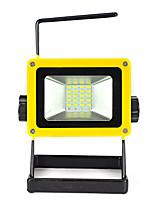 20w llevó el reflector 24 móvil portátil proyector recargable al aire libre / luz que acampa de emergencia de 3 * 18650 / cargador