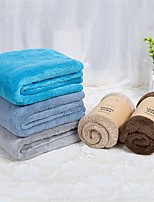 2pc Pack High Quality Solid Coral Fleece Face Towel Wash Towel 13.4