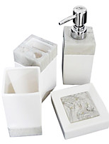 Milk white tetragonum ceramics bathroom Four piece suit