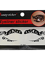 Abstract Fashion Lace Hollow Black Face Sticker YT-003