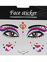 Abstract Pat Nightclubs Party Red Face Sticker LT-011