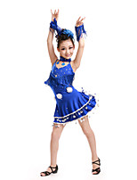 Latin Dance Dresses Children's Performance Spandex Cute Tassel(s) Kid's Dance Costumes