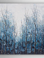 Hand Painted Oil Painting Landscape Blue Timber with Stretched Frame 7 Wall Arts®