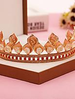 Bergkristal / Licht Metaal Vrouwen Helm Bruiloft / Speciale gelegenheden Tiara's Bruiloft / Speciale gelegenheden 1 Stuk