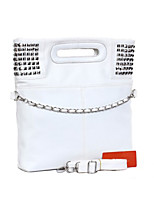 Women Tote PU All Seasons Formal Casual Event/Party Wedding Office & Career Shopper Zipper Black White