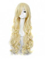 moda cor louro longo comprimento perucas sintéticas de alta qualidade das mulheres