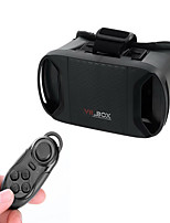 VR 3D BOX Virtual Reality 3D Glasses + Bluetooth Controller - Black For 3.3~6