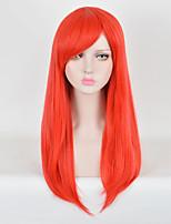 largos de color rojo pelucas cosplay rectas peluca sintética europeo