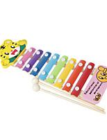 bois jaune main enfant frapper le piano pour les enfants tous les instruments de musique jouets de livraison aléatoires