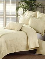 3PC Quilt Sets Full Cotton Floral Jacquard 90