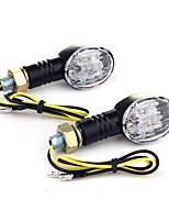 2pcs moto 11 LED girano segnale lampadina luce gialla 1w CC 12V 10 millimetri