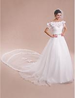Women's Wrap Shrugs Short Sleeve Lace / Tulle Ivory Wedding / Party/Evening Bateau Bow / Lace Lace-up