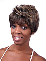 Capless Mixed Color Medium Length High Quality Natural Straight Hair Synthetic Wigs