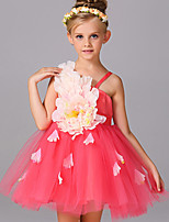 Girl's Pink / Red / White / Yellow Dress,Floral Polyester Summer / Spring / Fall