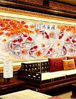 DIY 5D Annual surplus Nine fish Auspicious Home Decor Embroidery Kit Round Diamond Painting Cross Stitch 90*40cm