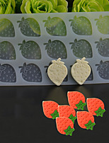 15 Hole Strawberry Shape Chocolate Plugin Mold for Cake Decoration Baking Mold Silicone Material